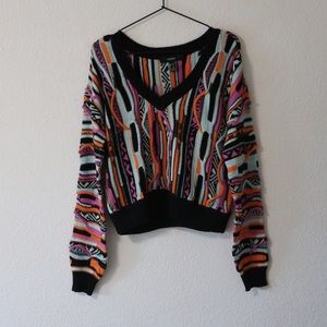 F21 Knitted c o g g i Inspired Sweater(dead stock)
